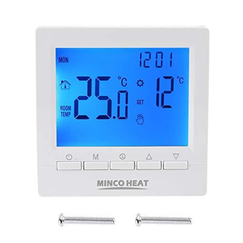 MYBOON Termostato Digital de Caldera de Gas 3A Controlador de Temperatura Ambiente programable semanal termostato Digital