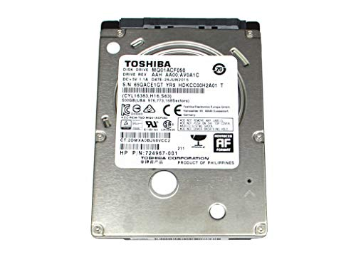MQ01ACF050, AA00/AV0A1C, HDKCC00H2A01 T, Toshiba 500GB SATA 2.5 dysk twardy