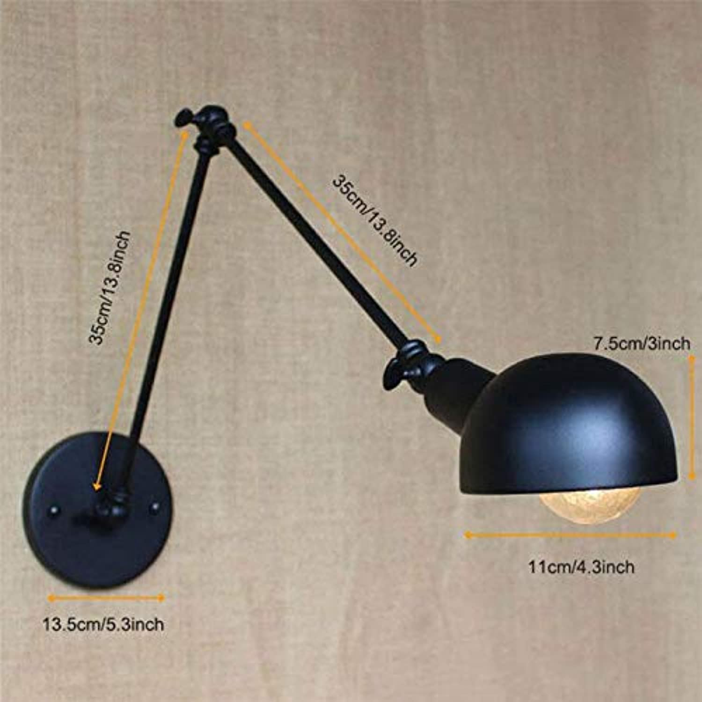Loft Industrial Long Swing Arm Wandleuchten Vintage verstellbare Wandleuchte Wandlampen, B