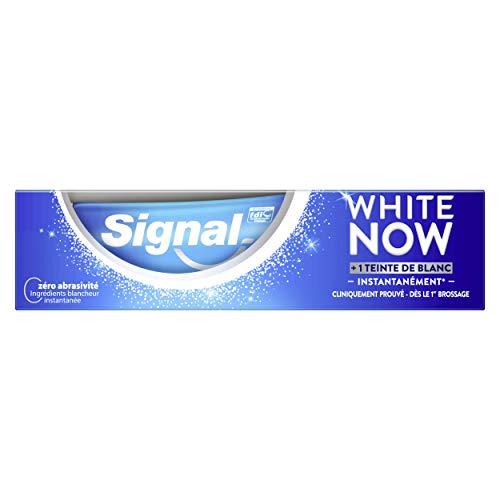 Signal Dentifrice Blancheur White Now, Sourire Plus Eclatant, Efficacité Cliniquement Prouvé, Correcteur de Couleur, 75ml