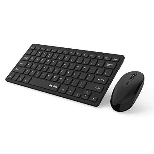 Jelly Comb 2.4G Slim Compact Quiet Small Keyboard and Mouse