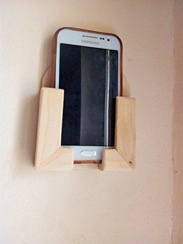 Soporte pared teléfono móvil / Smartphone madera