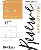 D'Addario リード レゼルヴ エヴォリューション Bクラリネット 強度:5.0(10枚入) アンファイルドカット DCE1050