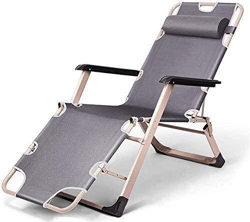 FTFTO Bureau Life Transats Chaise Longue Inclinable Chaise Longue Jardin Pelouse Patio Printemps Chaise Pliante Lit 5 Couleurs (Couleur: B)
