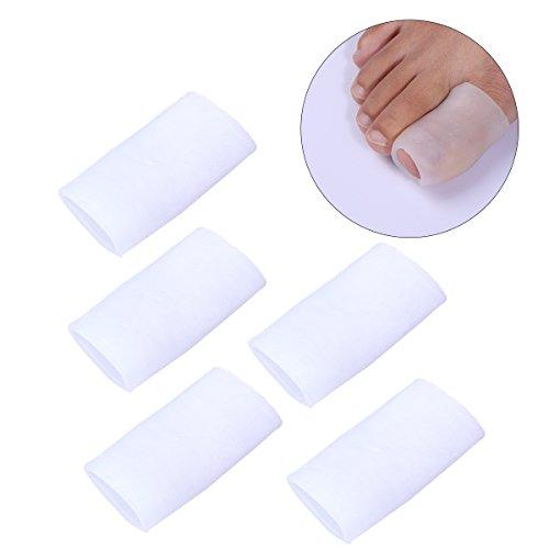 ROSENICE Gel Protector de dedo del pie dedo del pie protector silicona Toe manga 5 pares de Protector de juanete del dedo del pie