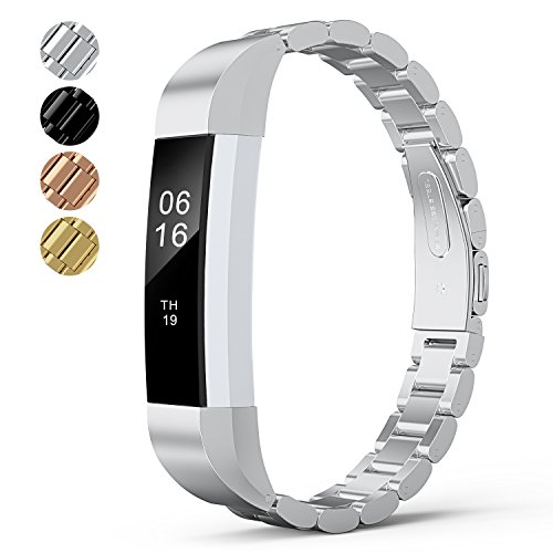 WOCOOL Alta HR Watchbands for HR Alta Replacement Band Stainless Steel Smart watch Fitness Tracker Small Large for Men & Women Alta Wristbands (Silver)