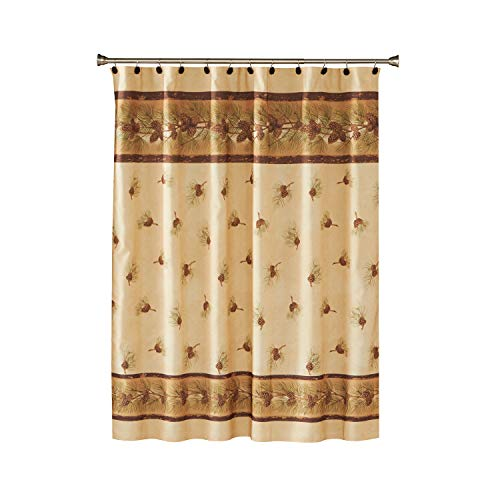 SKL HOME by Saturday Knight Ltd. Pinehaven Shower Curtain Hooks, Set of 12, Natural 2 Count