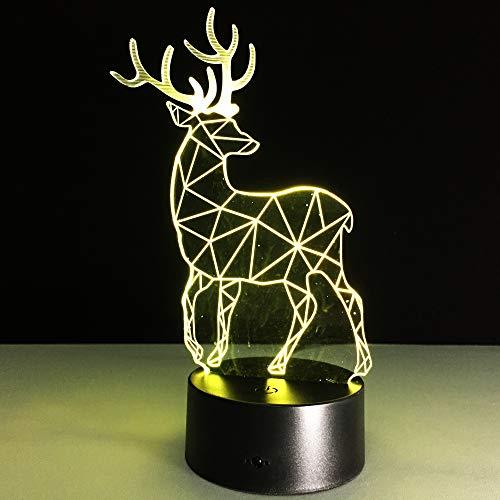 Lámpara de Mesa de plástico de Ciervo lámpara de Mesa Hecha a Mano luz de Noche Dormitorio Juguete de Navidad Color Regalo Enchufe envío Directo