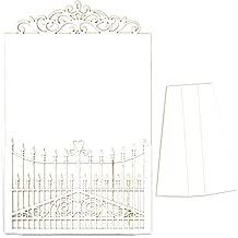 Coraz/ón Filigrana Multicolor Taglia unica Dayka Trade Silueta en carton fino y flexible