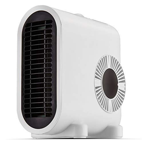 Mini Desk Space Heater, Portable Electric Fan Heater, Personal Air Heater with Rapid Heating,Constant Warmth, Low Noise for Office and Home,The Best Winter Gift (Color : White, Size : 220V)