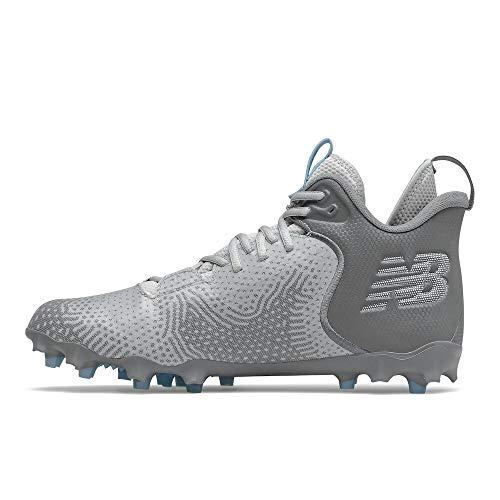 New Balance Men's Freeze V3 Agility Lacrosse Shoe, Grey/White, 8.5
