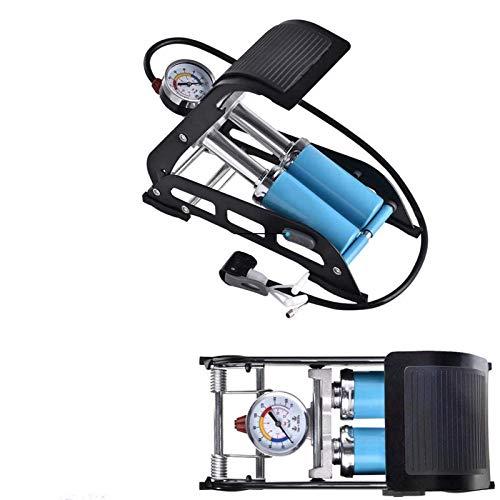 S SMAUTOP Fußpumpe, tragbare Standradpumpe mit genauem Manometer und intelligenten Ventilen, 160PSI Luftpumpe für Fahrräder, Motorräder, Autos, Bälle