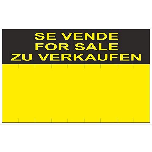 RD51405 - Cartel Se Vende For Sale Zu Verkaufen PVC Glasspack 0,4 mm 45x70 cm con CTE, RIPCI Nueva Legislación