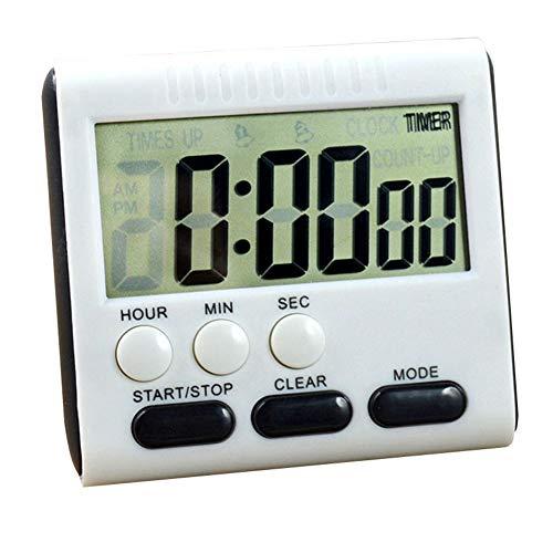 Wankd digitaler Küchentimer, großer LCD-Display-Timer 24 Stunden-Uhr mit lautem Alarm, einziehbarer Ständer und magnetischer Rückseite