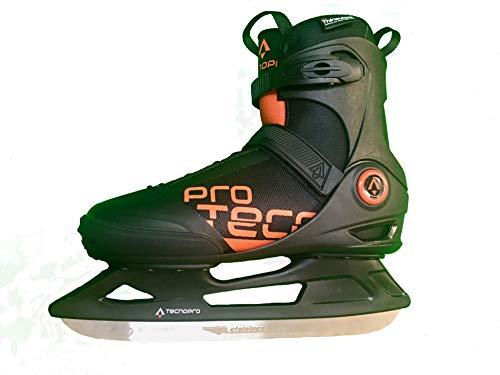 Tecnopro Herren Phoenix M 2.0 Feldhockeyschuhe, Schwarz (Black/Orange 900), 45 EU