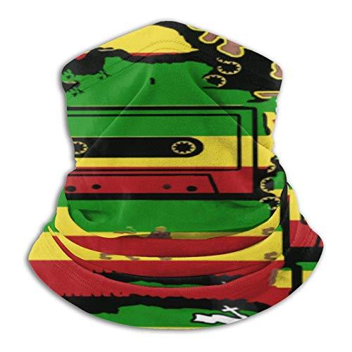 Rastafarian Reggae Rasta - Calentador de cuello con forro polar para esquí y esquí para hombres y mujeres