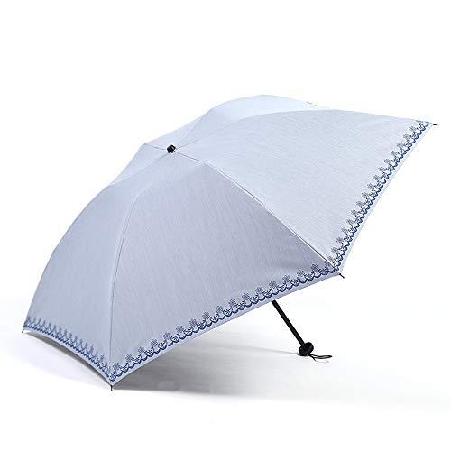 xinrongqu Sonnenschirm Uv-Schutz Falten Mini Regenschirm wasserdichte Sonnencreme 30% Schwarz Kunststoff Regenschirm Quelle Hersteller