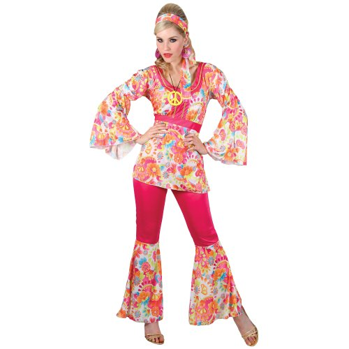 Hippie Honey - Adult Costume for Women. Plus Sizes up to 28