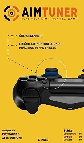 AimTuner 6 Schwarze Schaumstoff Ring Verbesserung deiner Zielsicherheit auf der PS4 Aim Assistance Stossdämpfer Zielhilfe Analogstick