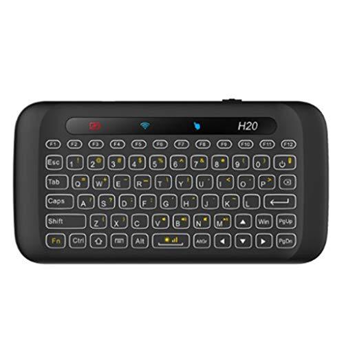 lailongp H20 Mini Doppelseitige drahtlose Touch-Tastatur Vollbild-Touchpad Tastatur mit Hintergrundbeleuchtung