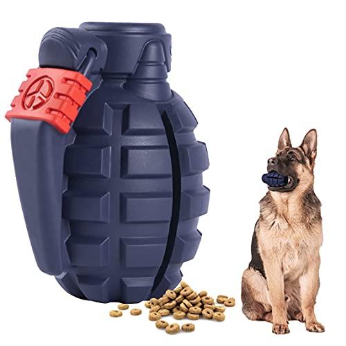 SUNNEKO Premium Hundespielzeug Unzerstörbar aus Naturkautschuk – sehr Robuster Kauspielzeug Hunde nahezu Unkaputtbar – Intelligenzspielzeug für Kleine Mittelgroße und Große Hunde,Marineblau