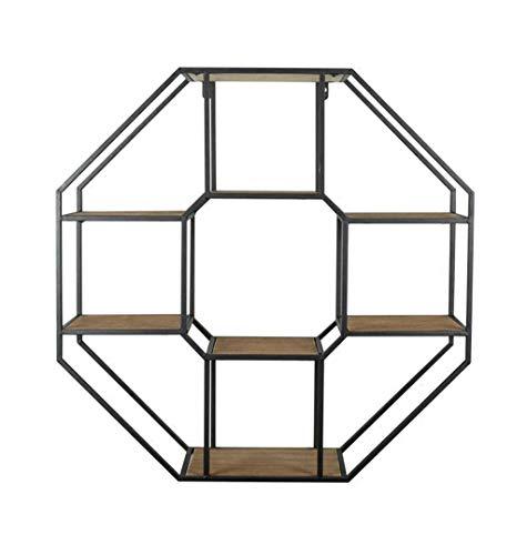 Étagère murale de haute qualité étagère en bois de fer étagère flottante Étagères de cube comme de étagère rangement Vintage Decorations Design (Noir) (taille : 73×20×73cm)