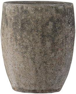 ボルカーノ トールラウンド 35 cm/テラコッタ/植木 鉢 プランター 【 Mホワイト 】
