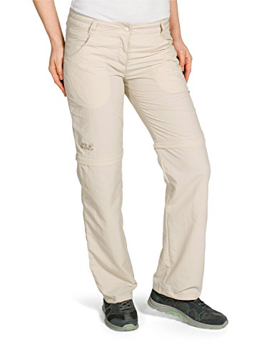 Jack Wolfskin Damen Hose Marrakech Zip Off Pants Women, White Sand, 44, 1501731-5017044