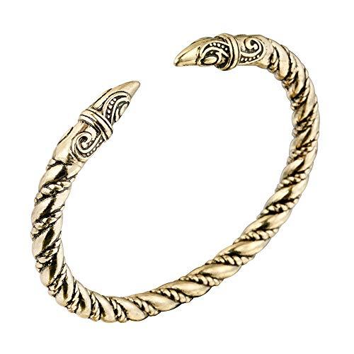 NICEWL Wikinger Odin Rabe Armband-Nordic Herren Manschette Twisted Wire Krähenöffnung...