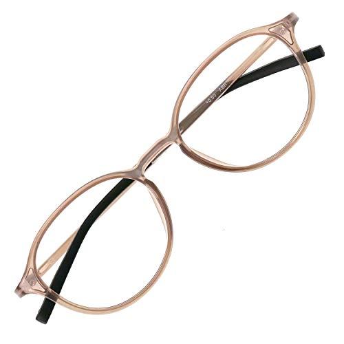 アイウェアエア 老眼鏡 おしゃれ レディース メンズ ブルーライトカット 35% +0.5〜+3.5 4色 ボストン アッシュブラウン +2.00