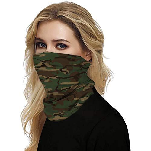 FRAUIT Multifunktionstuch Outdoor Bandana Camouflage Schlauchtuch Sonnenschutz Winddichte Halstuch Motorrad Tuch Atmungsaktiv Bandanas Bedecke Deine Nase und deinen Mund