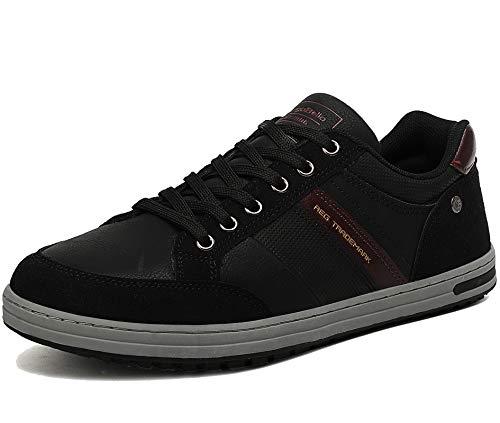 AX BOXING Zapatos Hombre Vestir Casual Zapatillas Deportivas Running Sneakers Corriendo Transpirable Tamaño 40-46 (Negro Z, Numeric_43)