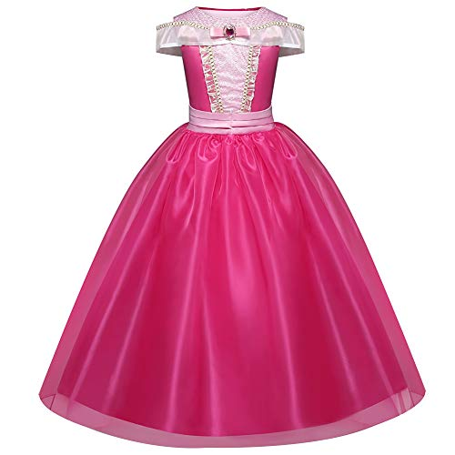 Girls Fancy Dress, Costumes Princess Dress up Fancy Party Dress for Kids Halloween Birthday Pageant Holiday Carnival Cosplay Dresses 3-8 Years Pink(4Y)