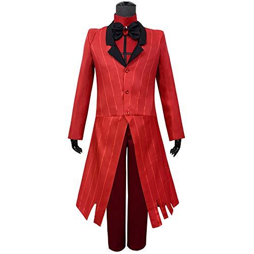 OUJIE Robe Rouge, Manteau De Jeu De Rôle pour Homme, Mascarade Personnalisée, Costume d'halloween,S