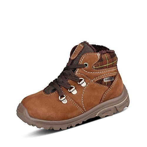 RICOSTA Jungen Boots DESSE von Pepino, Weite: Weit (WMS),Sympatex,gefüttert,wasserdicht,Kids,Winterboots,Caramel/Schoko (282),27 EU / 9 Child UK