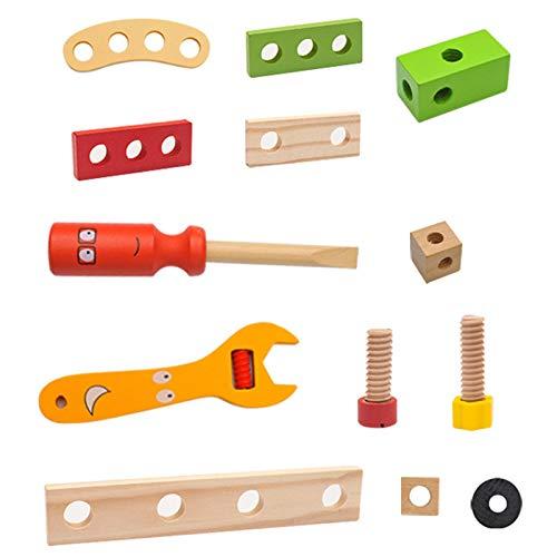 Herramientas de bricolaje para niños, caja de herramientas de juguete educativo, bricolaje, juguete infantil de madera