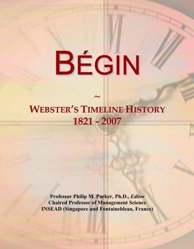 B¿gin: Webster\'s Timeline History, 1821 - 2007