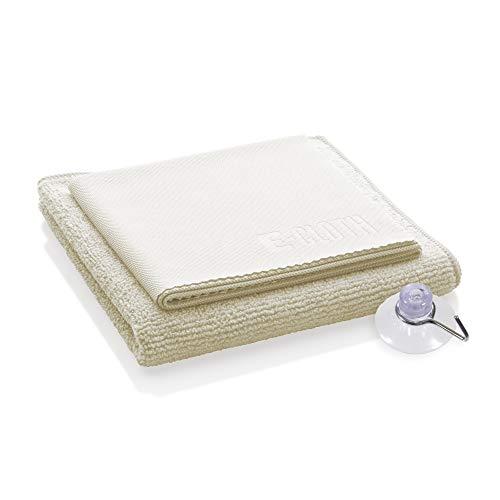 E-Cloth Douchereinigingspakket, microvezel, ivoor, 2 stoffen set