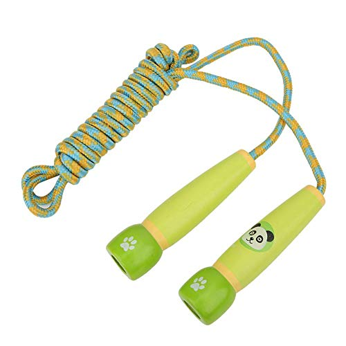 Sale!! Tbest Jumping Rope, Training Jumping Rope Rope with Wood Handles for Children Kids(Green)