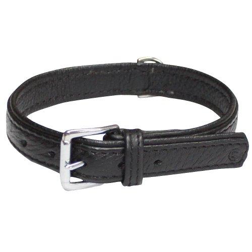 Elchleder Halsband flach Halsumfang: 48-56 cm das Hundehalsband Lederhalsband ist griffig warm und Supersoft frei von billigen Füll oder Unterleg Leder Elchhalsband optimaler