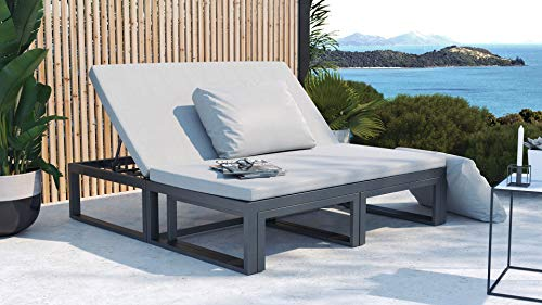 ARTELIA Cassio Street Collection Loungemöbel Personen - Modulares Premium Gartenmöbel Set für Terrasse, Garten und Wintergarten, Terrassenmöbel Anthrazit
