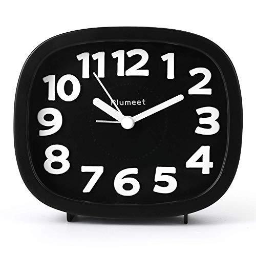 Plumeet Despertador Analógico Digital 3D, Reloj Silencioso...