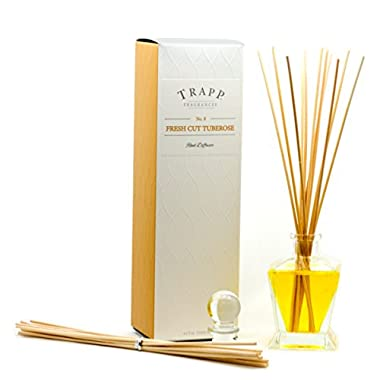 Trapp Ambiance Collection Reed Diffuser Kit, No. 8 Fresh Cut Tuberose, 4.5-Ounce