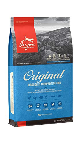ORIJEN Dry Dog Food for All ages, Original, Grain Free, High Protein, Fresh & Raw Animal Ingredients, 25lb