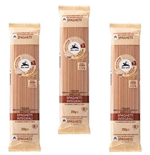 アルチェネロ 有機ファイバー&プロテインスパゲッティ 全粒粉とヒヨコ豆  250g×3袋