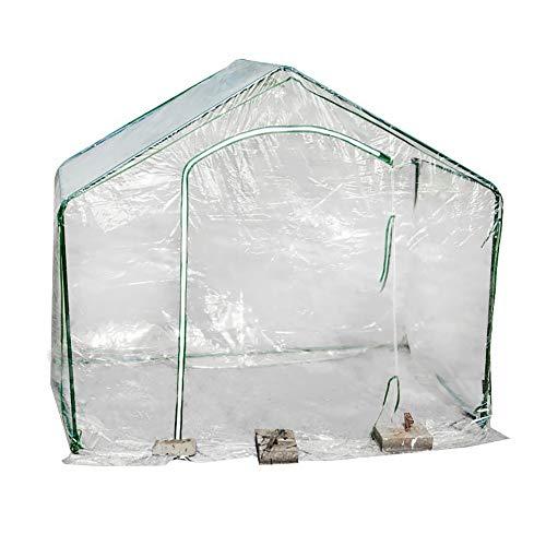 JLXJ Gewächshaus Begehbare Gewächshäuser Aus Kunststoff für Den Winter Im Freien, Mini-Gewächshaus mit Warmem, Durchsichtigem PVC-Überzug Und Rolltor für Gartenterrassenpflanzen