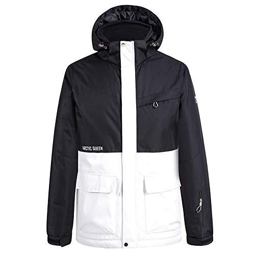 Unisex Skiing Jacket Women's Men's Mountain Waterproof Windproof Jacket Couple Winter Warm Snowboard Coat with Hood