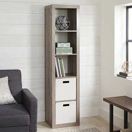 Better Homes and Gardens 5-Cube Organizer (RUSTIC GRAY)