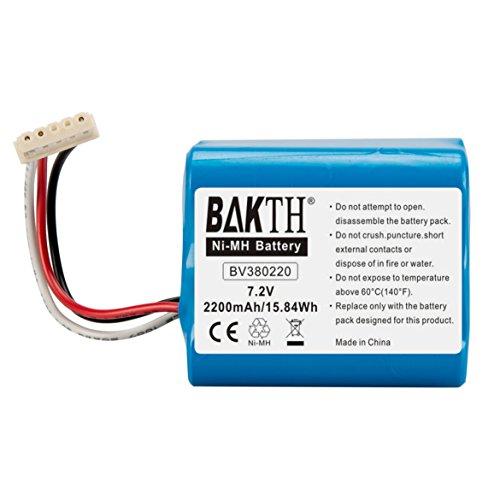 BAKTH 2200mAh 7.2V NiMH Akku echte Kapazität für Braava 380T, Braava 380, Braava 390T Mint Plus 5200, 5200C