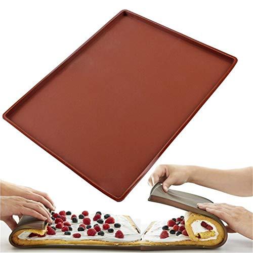 SELUXU Swiss Roll Cake Mat Silicona Pizza Galletas Molde Silicona Baking Roll Mat Pizza Pan Pastelería Pad